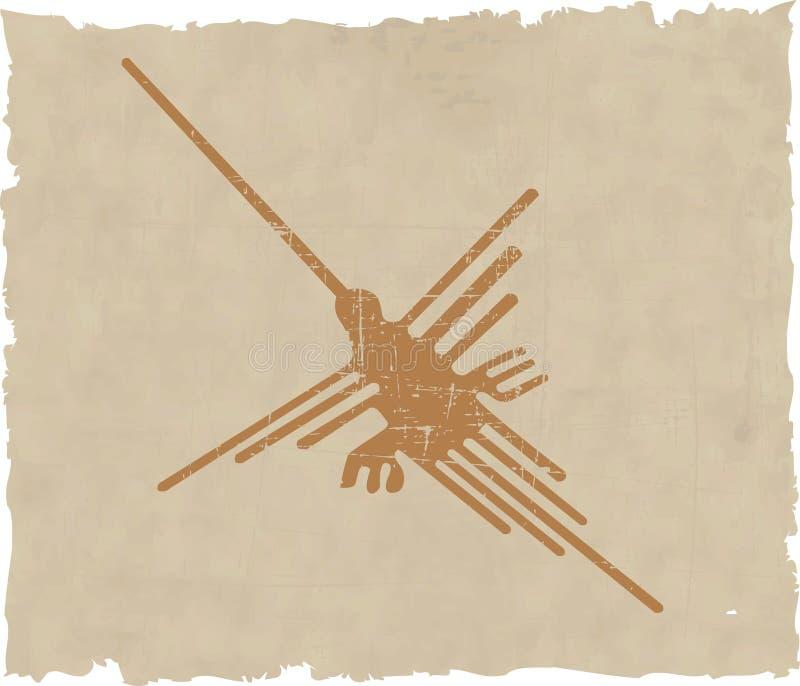 Linhas de Nazca ilustração stock