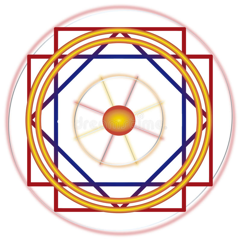 Linhas de Nazca ilustração do vetor
