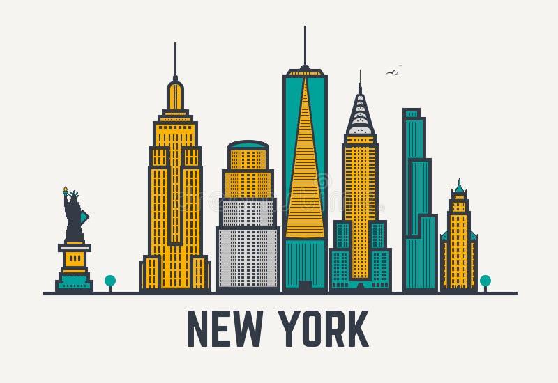 Linhas de New York City ilustração stock