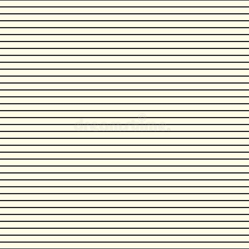 Linhas de repetição horizontais simples As listras finas do vetor, teste padrão cobrem a capacidade estilo sem emenda Fundo claro ilustração do vetor
