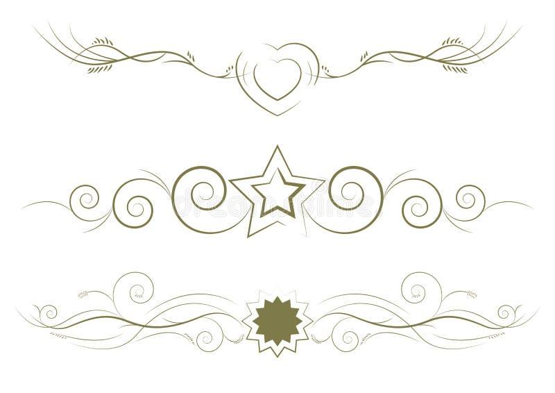 Linhas decorativas da régua foto de stock