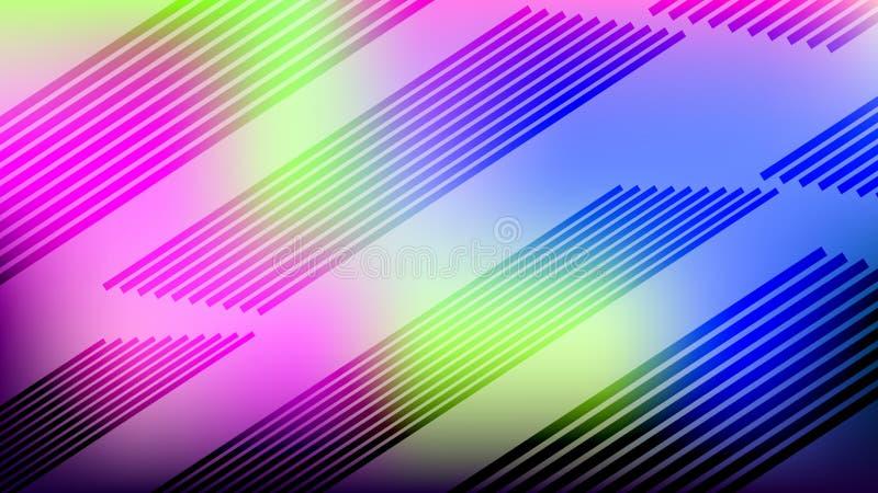 Linhas diagonais coloridas fundo Cartão abstrato moderno do inclinação ilustração royalty free