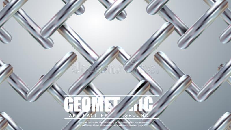 Linhas diagonais de prata modernas Fundo geométrico colorido Composição dinâmica das formas Vetor Eps10 ilustração stock
