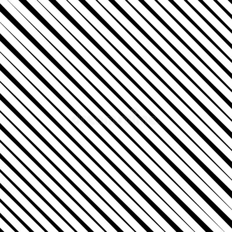 Linhas diagonais pretas de intervalo mínimo Repita listras retas Alinha o teste padr?o sem emenda ilustração stock