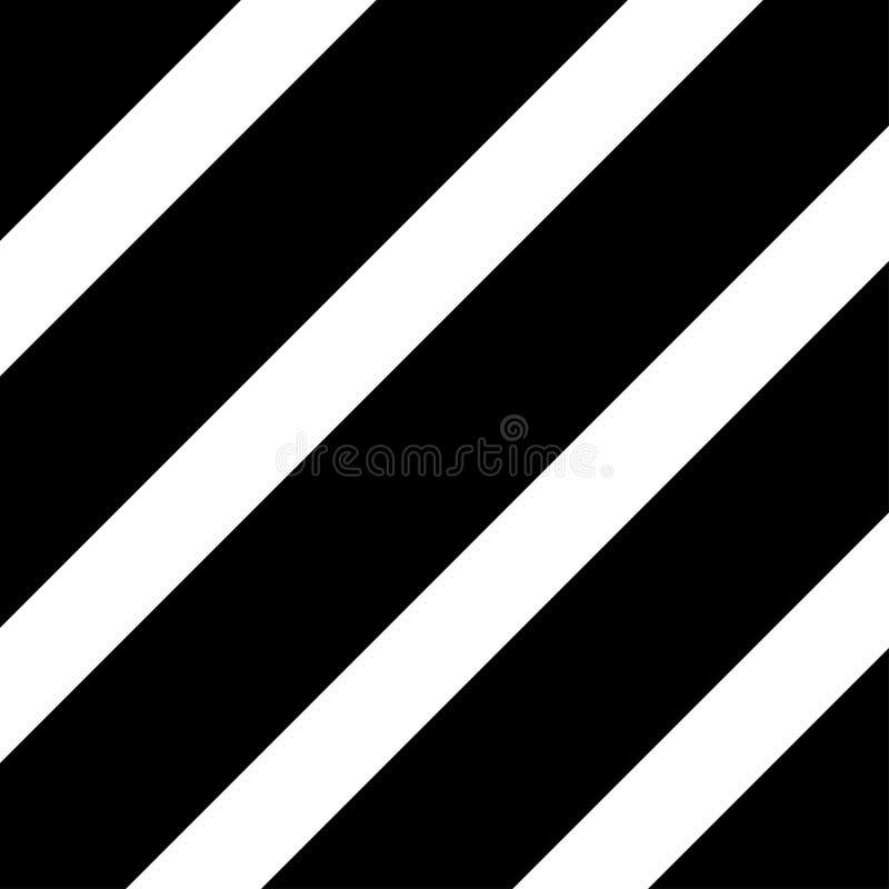Linhas diagonais pretas Repita listras retas Alinha o teste padr?o sem emenda ilustração do vetor