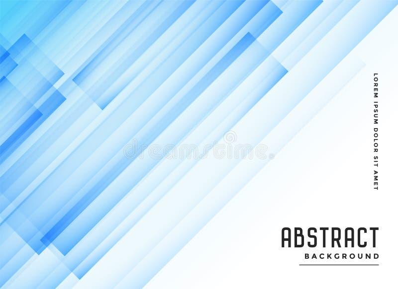 Linhas diagonais transparentes azuis fundo do sumário ilustração stock