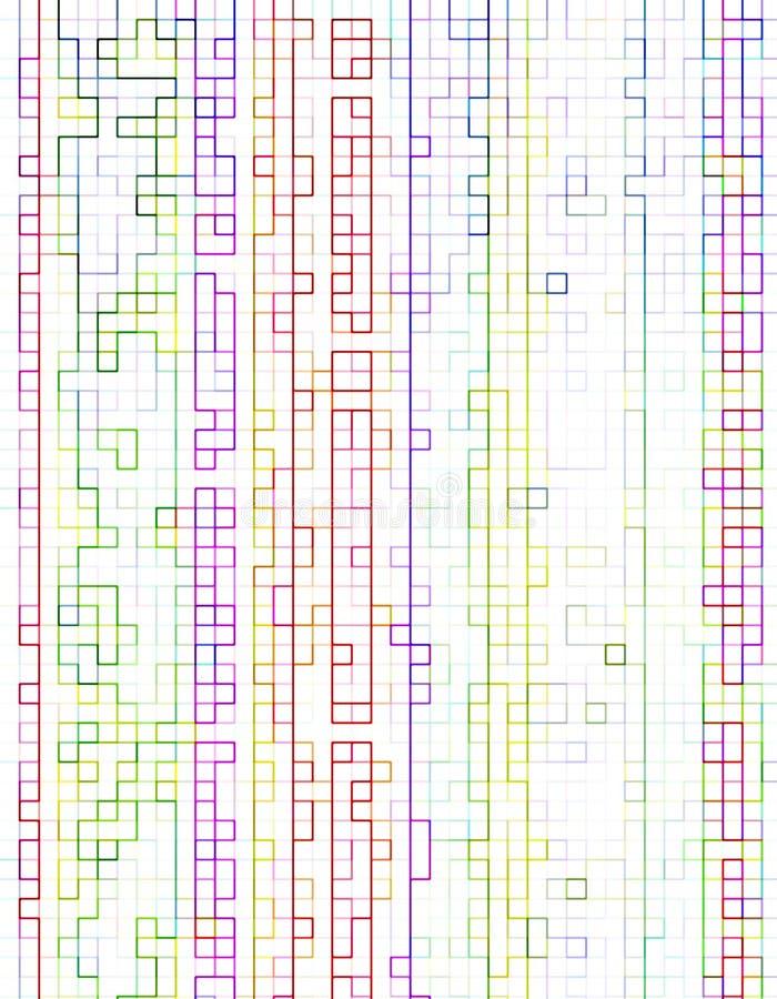 Linhas do arco-íris ilustração stock
