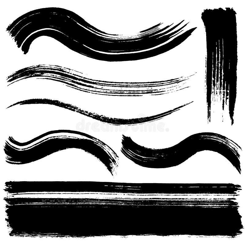 Linhas do curso da escova ilustração royalty free