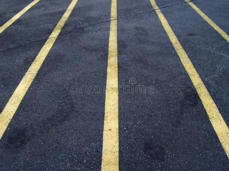 Linhas do lote de estacionamento fotos de stock