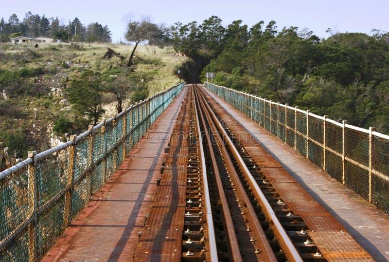 Linhas do trem em uma ponte foto de stock royalty free