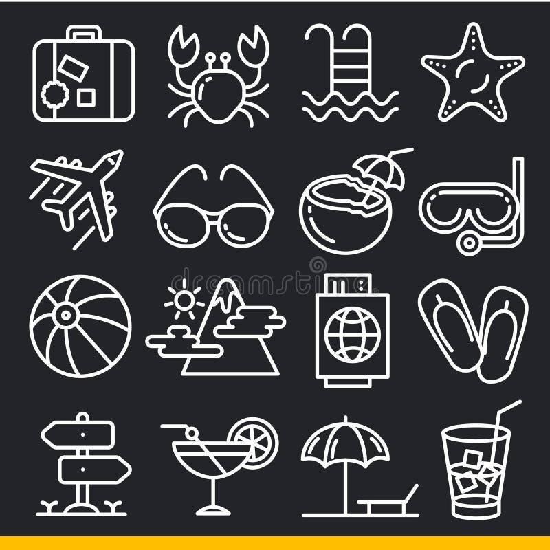 Linhas dos ícones do vetor ajustadas ilustração do vetor