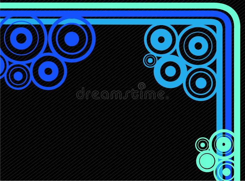 Linhas e fundo dos círculos ilustração do vetor