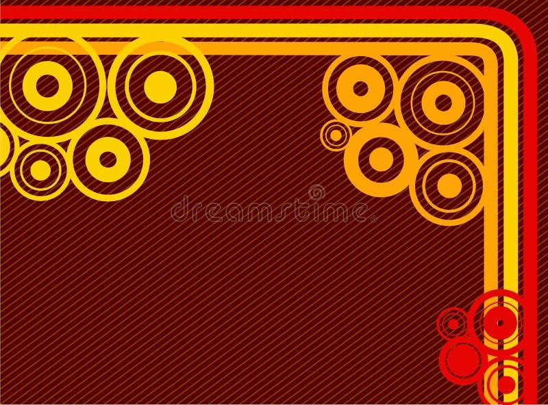 Linhas e fundo dos círculos ilustração royalty free