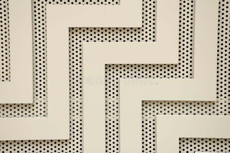 Linhas e furos abstratos imagens de stock