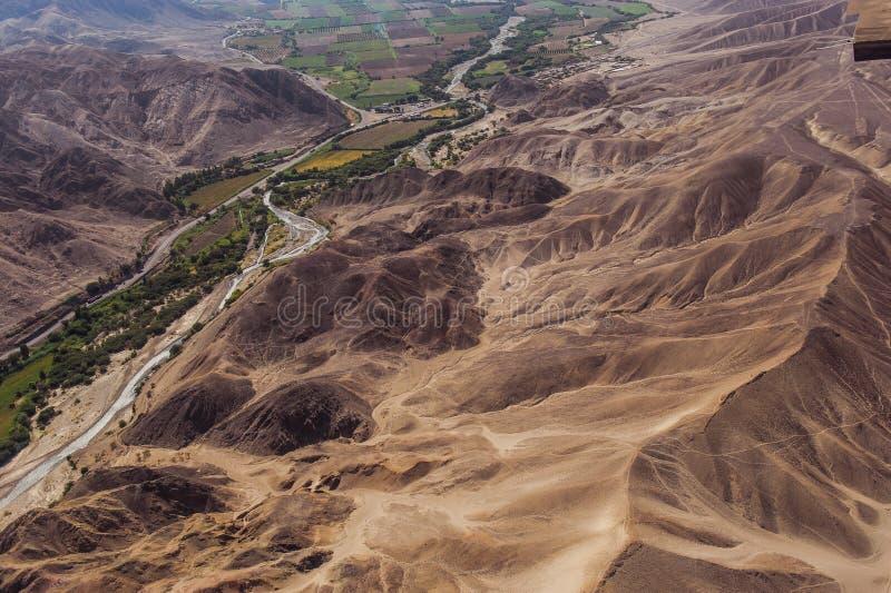 Linhas e geoglyphs de Nazca imagens de stock