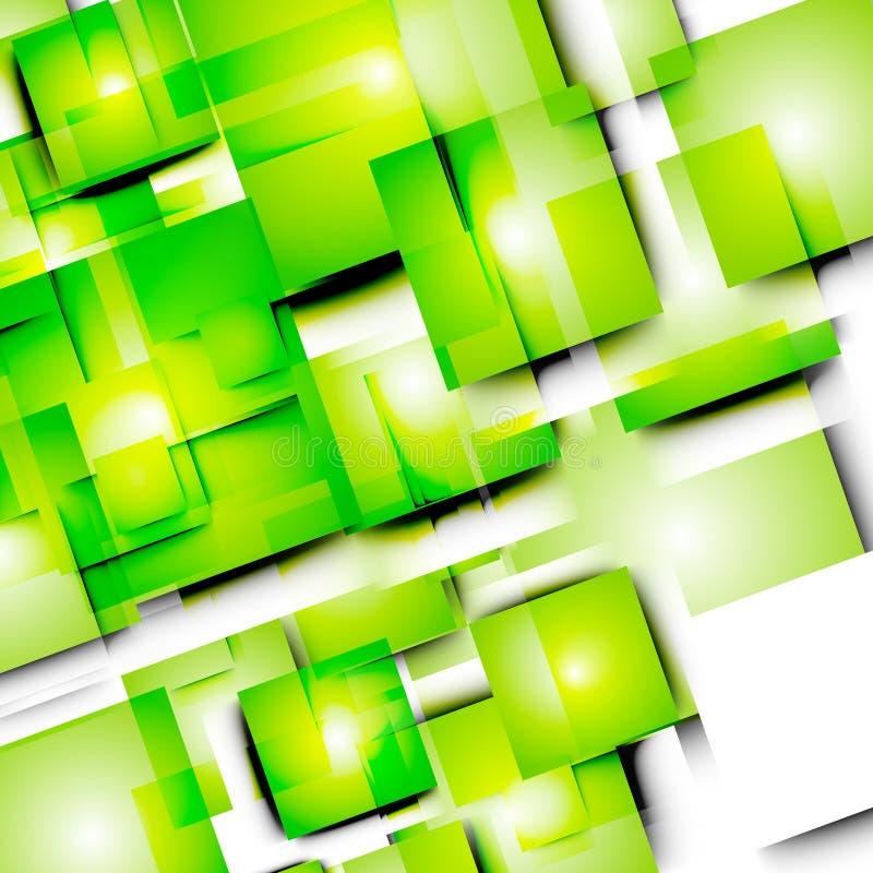 Linhas e quadrados abstratos do vetor ilustração stock