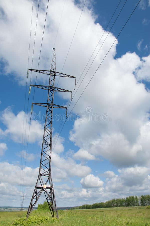 Linhas eléctricas foto de stock