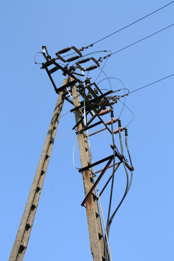 Linhas eléctricas fotografia de stock royalty free
