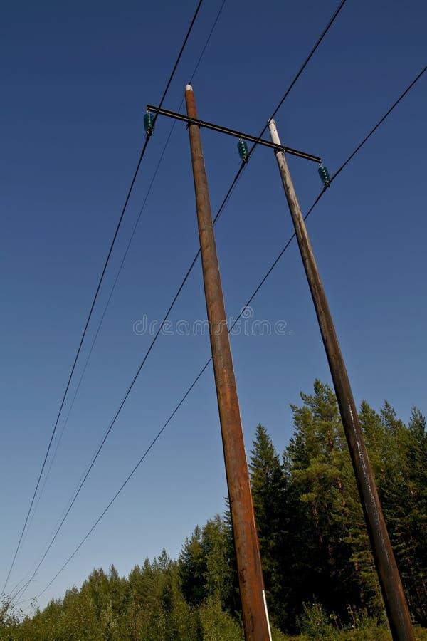 Linhas eléctricas elétricas fotos de stock royalty free