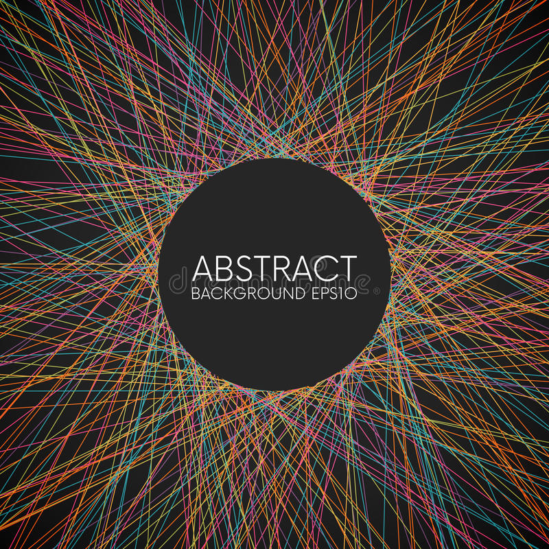 Linhas finas aleatórias coloridas abstratas fundo com lugar para seu índice ilustração do vetor