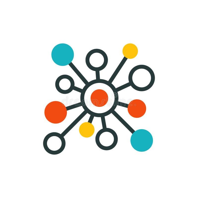 Linhas finas esboço do ícone da conexão do acesso grande da senha da proteção do Internet do sistema de computação da nuvem do gr ilustração royalty free