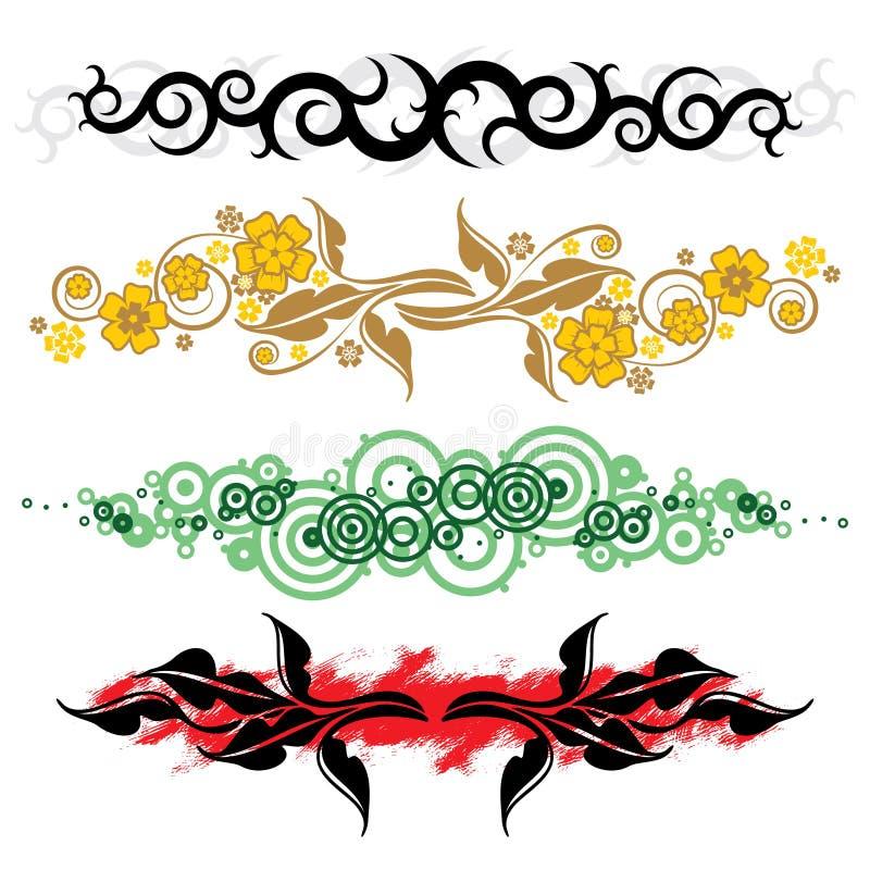 Linhas florais ilustração do vetor