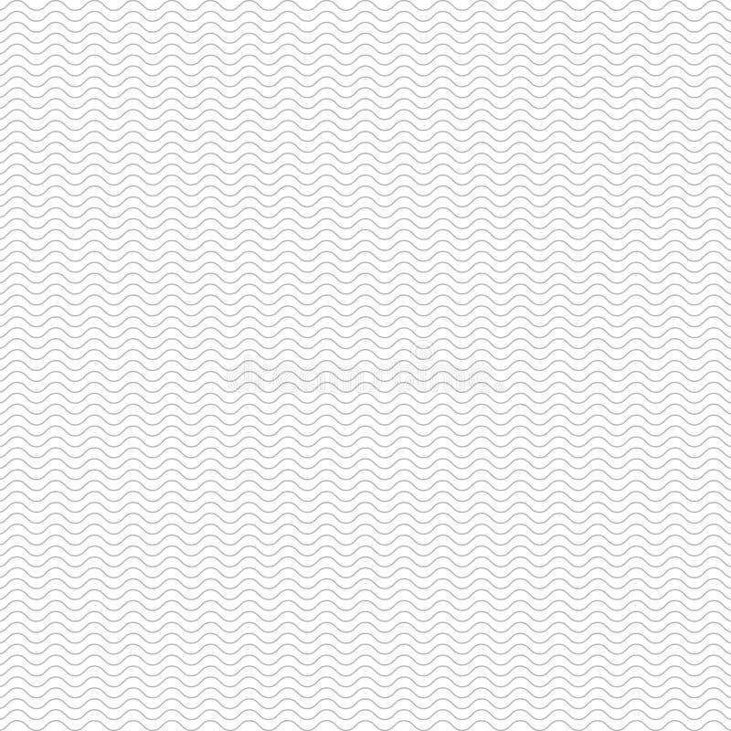 Linhas fundo da onda do teste padrão ilustração do vetor