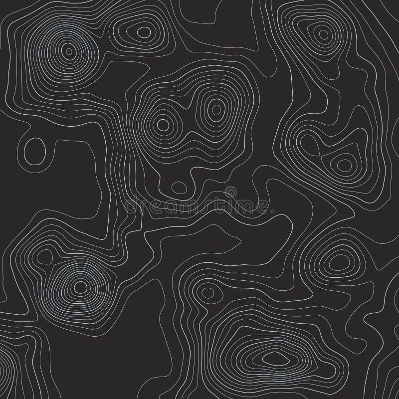 Linhas fundo do mapa topogr?fico ilustra??o abstrata do vetor ilustração do vetor