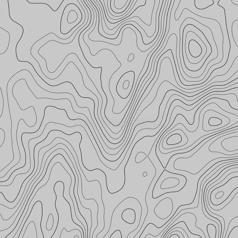 Linhas fundo do mapa topogr?fico ilustra??o abstrata do vetor ilustração stock