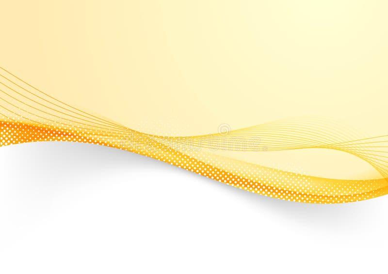 Linhas futuristas alaranjadas brilhantes fundo do fluxo da beira ilustração royalty free