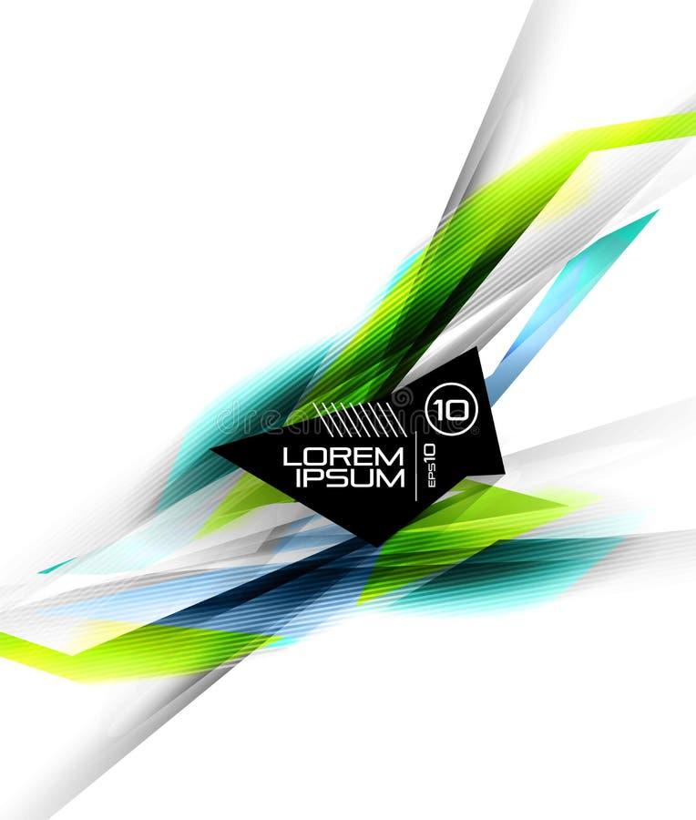 linhas futuristas coloridas da Olá!-tecnologia ilustração stock