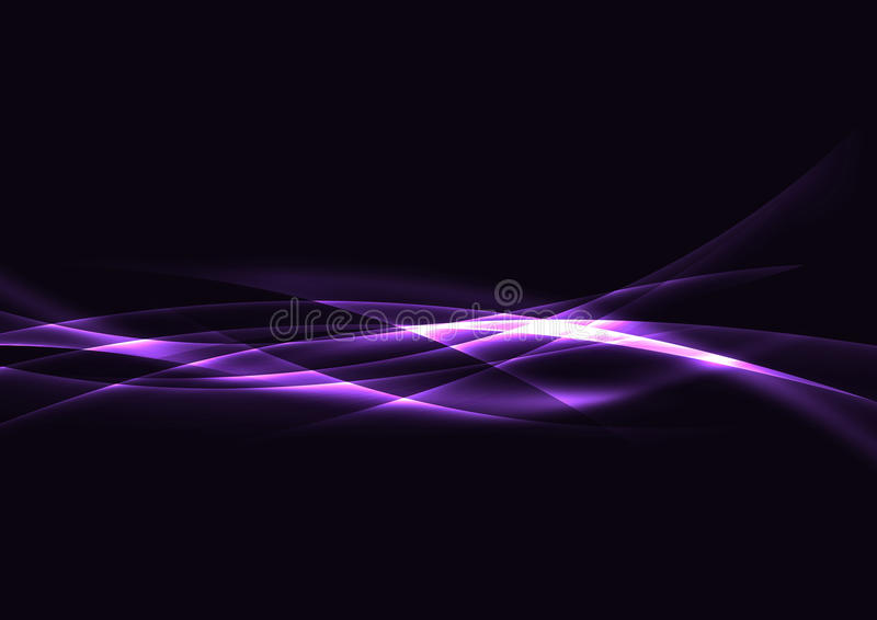 Linhas futuristas da velocidade da Web do swoosh da energia clara Metade transparente ilustração royalty free