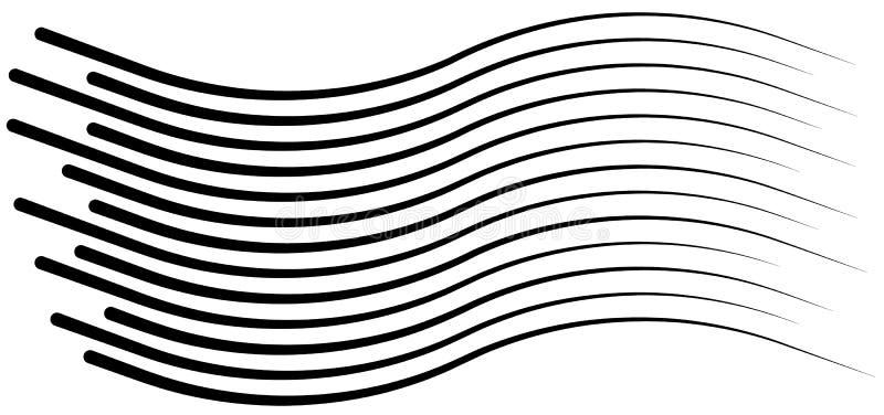 Linhas grupo isolado da velocidade Sun ilustração stock