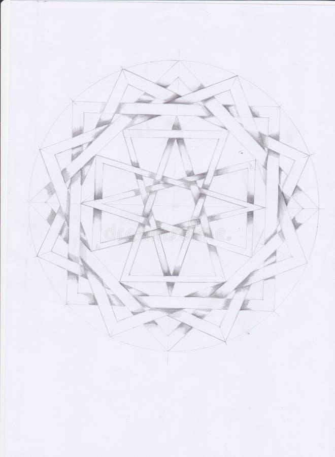 Linhas hipnóticas de repetição geométricas da tração ilustração royalty free