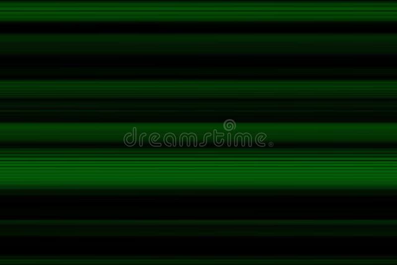 Linhas horizontais brilhantes fundo do sumário olorful do ¡ de Ð, textura em escuro - tons verdes ilustração stock