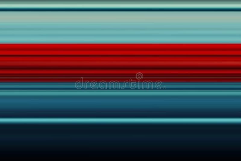 Linhas horizontais brilhantes fundo do sumário olorful do ¡ de Ð, textura em tons vermelhos e azuis Teste padrão para o projeto d ilustração royalty free