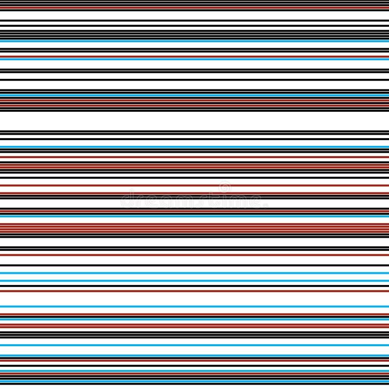 Linhas horizontais coloridas com a mesma espessura ilustração stock