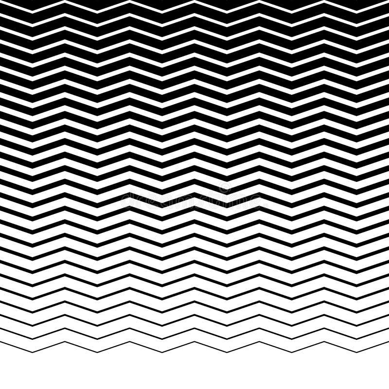Linhas horizontais do ondulado-ziguezague paralelo - horizontalmente repetíveis ilustração stock