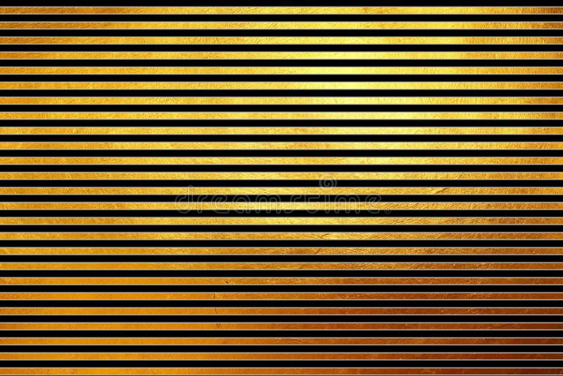 Linhas horizontais douradas shinning modernas incomuns criativas originais fundo abstrato do teste padrão da textura Elemento do  ilustração stock