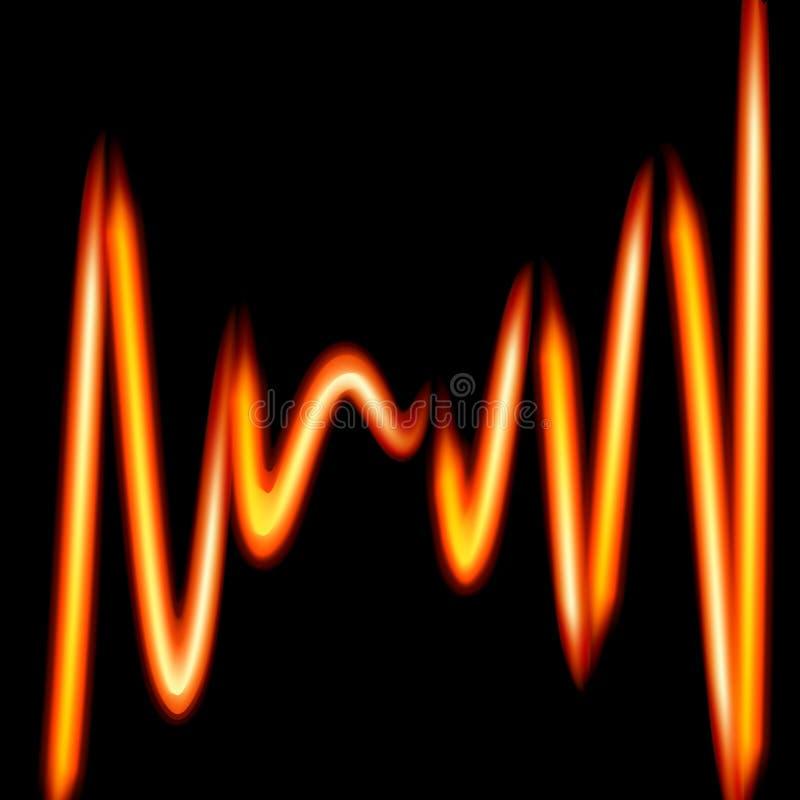 Linhas impetuosas fundo-curvadas sumário Ilustração em vagabundos pretos ilustração do vetor