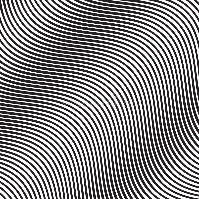 Linhas lisas oblíquas teste padrão da onda no vetor ilustração do vetor