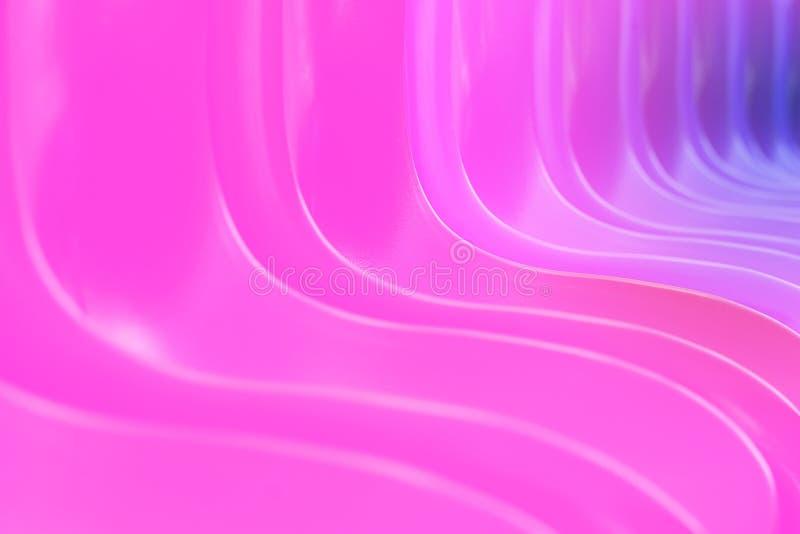 Linhas lisas roxas fundo da curva da torção do inclinação macio do brilho Inclinação abstrato do rosa à violeta Sonho macio do bo fotografia de stock royalty free
