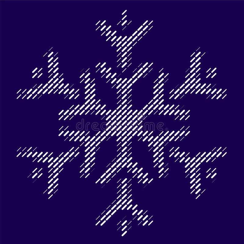 Linhas modernas conceito do showflake ilustração do vetor