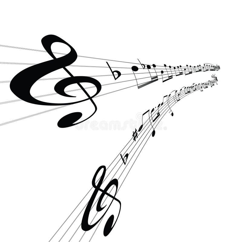 Linhas musicais abstratas imagens de stock royalty free