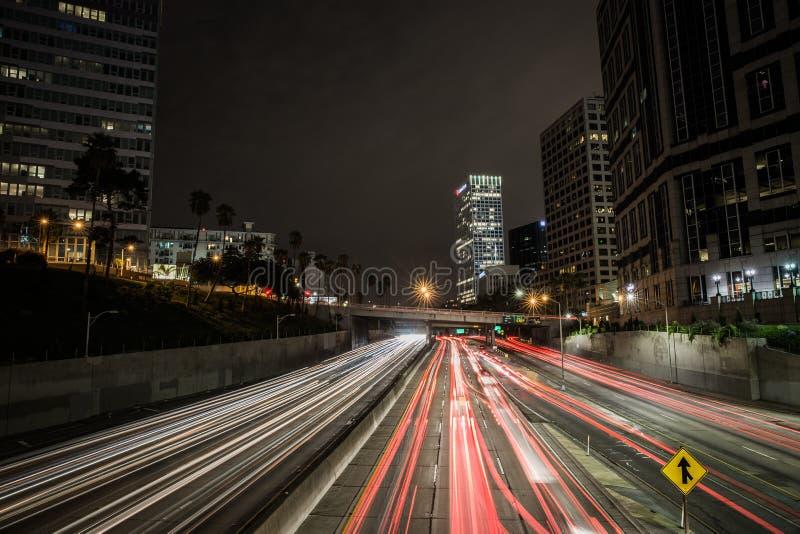 Linhas nas estradas do LA imagem de stock royalty free