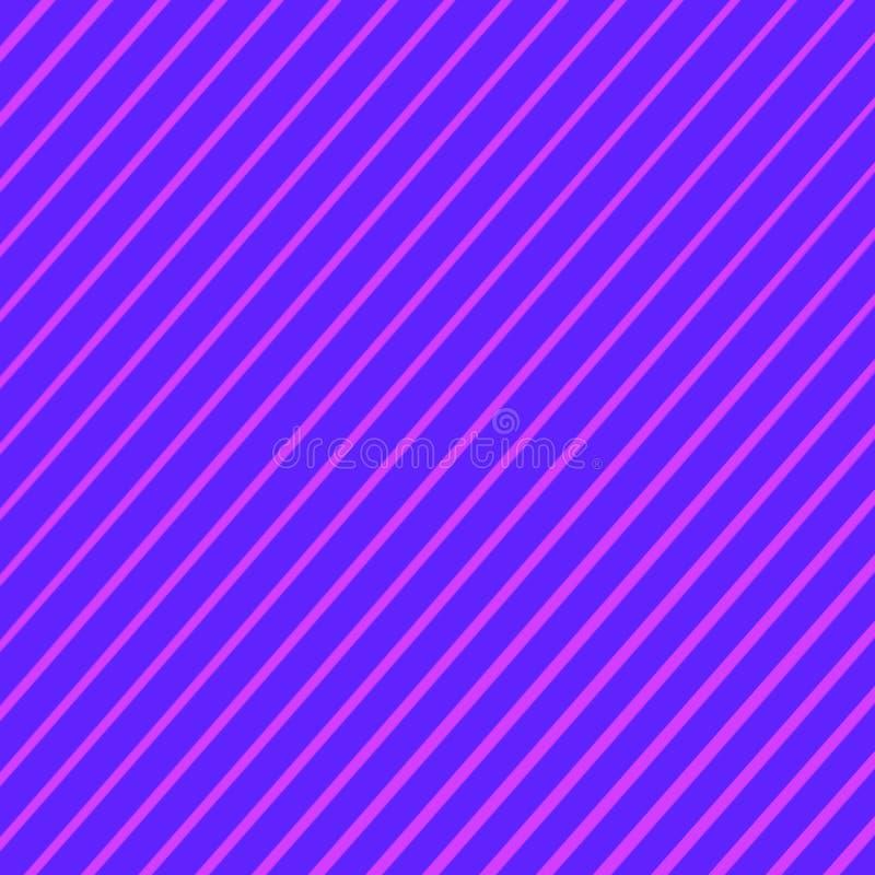 Linhas obl?quas abstratas fundo roxas, do rosa e da cor azul do inclina??o das listras ilustração royalty free