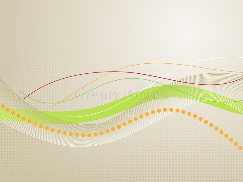 Linhas onduladas ilustração do vetor