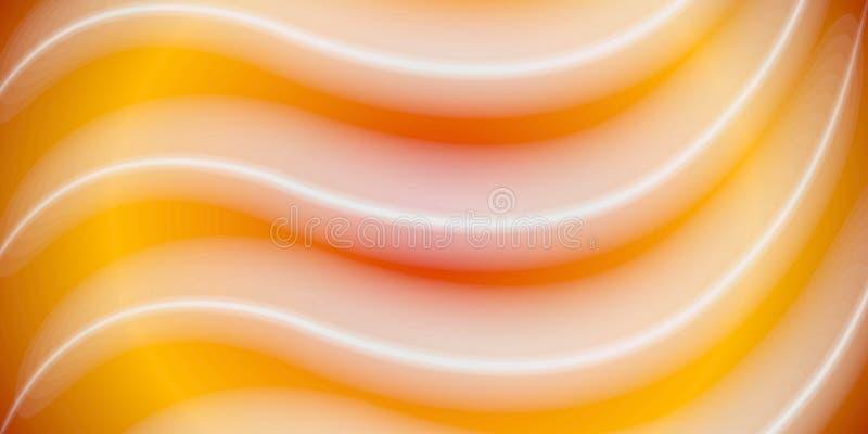 Linhas onduladas abstratas branco do ouro ilustração do vetor