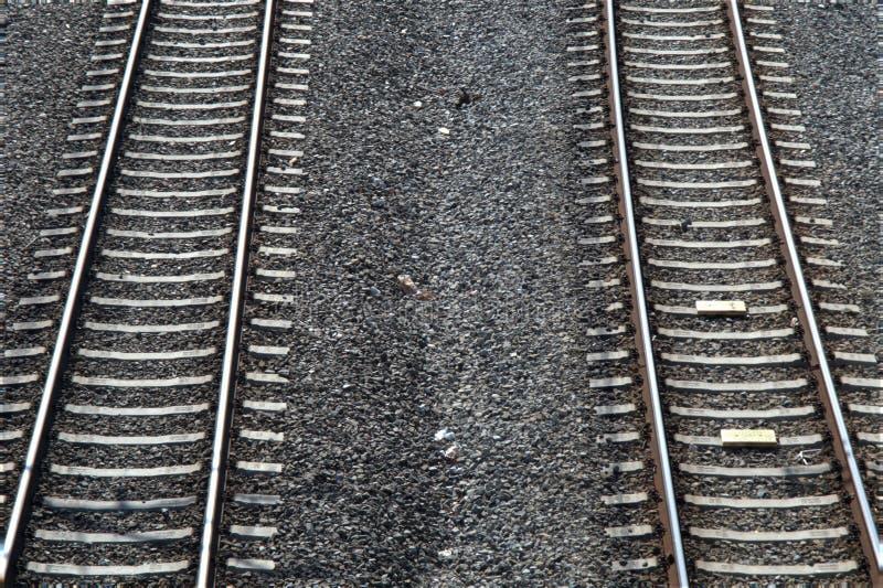 Linhas paralelas railway foto de stock