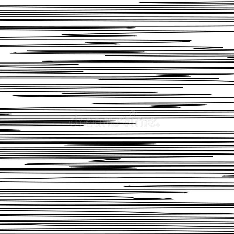 Linhas pretas horizontais ilustração stock